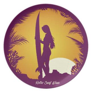 Retro Surf Wear Dinner Plate