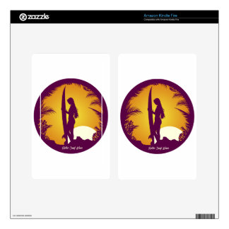 Retro Surf Wear Kindle Fire Decals