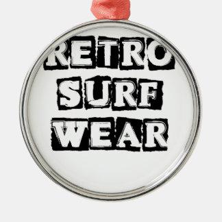 Retro Surf Wear Metal Ornament