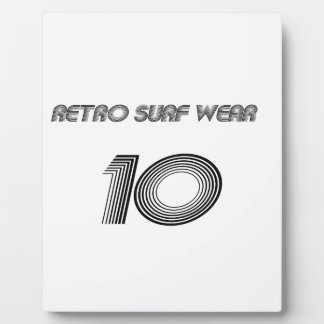 Retro Surf Wear Plaque