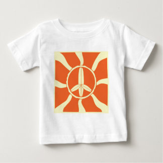 Retro Surfboard Peace Sign Baby T-Shirt