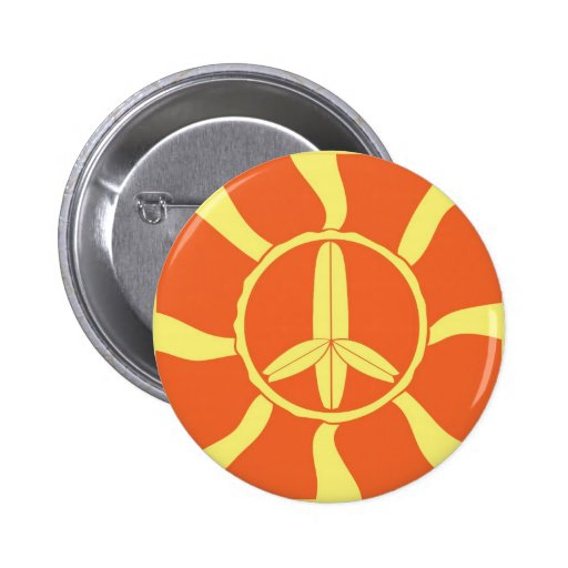 Retro Surfboard Peace Sign Buttons