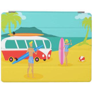 Retro Surfer Couple iPad Cover