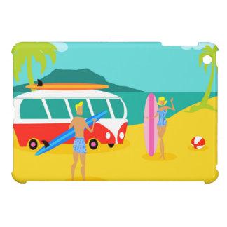 Retro Surfer Couple iPad Mini Case