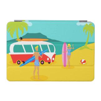 Retro Surfer Couple iPad Mini Cover