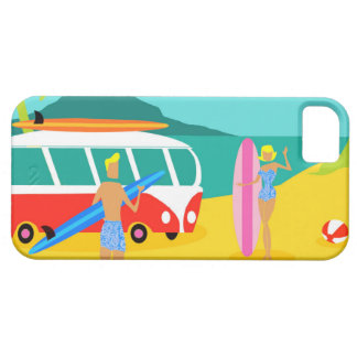 Retro Surfer Couple iPhone 5/5S Case
