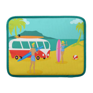Retro Surfer Couple MacBook Air Sleeve