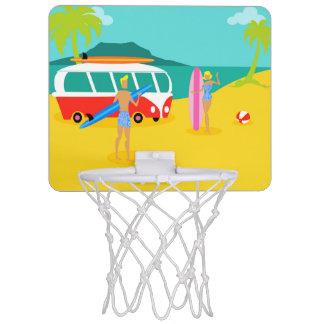 Retro Surfer Couple Mini Basketball Hoop