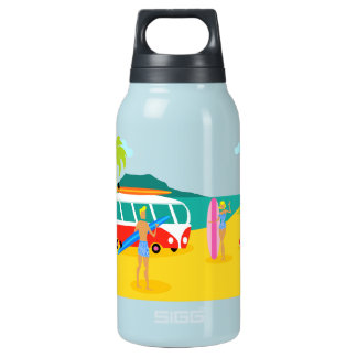 Retro Surfer Couple Thermos Bottle SIGG Thermo 0.3L Insulated Bottle