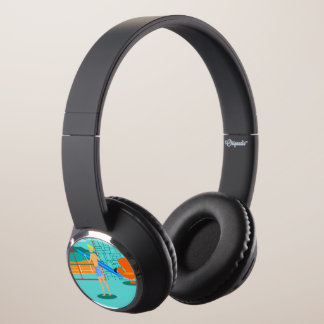 Retro Surfer Dude DJ Style Headphones