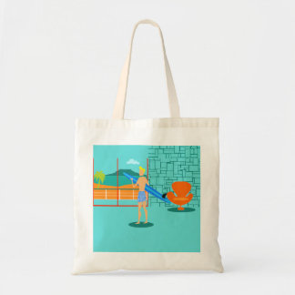 Retro Surfer Dude Tote Bag