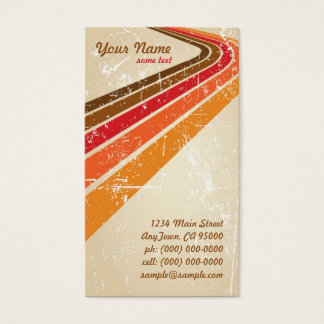 Retro Surfer Stripes Business Card