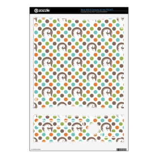 Retro Surfing Pattern Xbox 360 S Console Skins