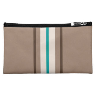Retro Surfing Stripes Pattern Cosmetic Bag