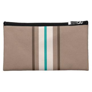 Retro Surfing Stripes Pattern Cosmetic Bag