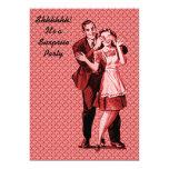 Retro Surprise Party 5x7 Paper Invitation Card