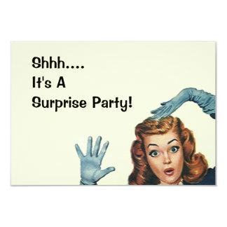 Retro Surprise Party Fun Expression Vintage Style 3.5x5 Paper Invitation Card