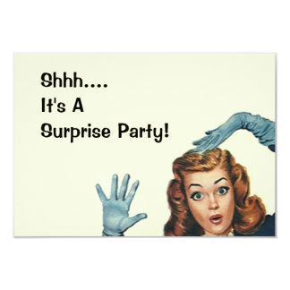 Retro Surprise Party Fun Expression Vintage Style Card