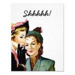 Retro Surprise Party 4.25x5.5 Paper Invitation Card