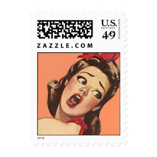 Retro Surprise shock sorry I forgot Postage Stamps