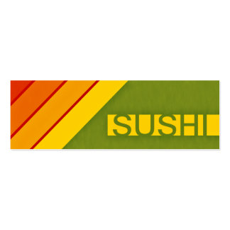 retro SUSHI Double-Sided Mini Business Cards (Pack Of 20)