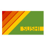 retro SUSHI Double-Sided Standard Business Cards (Pack Of 100)