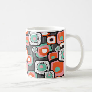 Retro Sushi Flower Squares Custom Mug