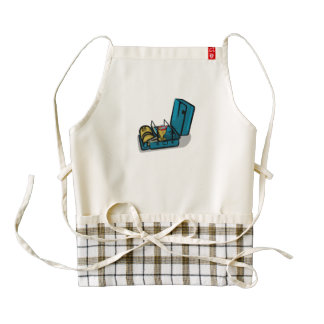 Retro Swedish Camp Stove Zazzle HEART Apron