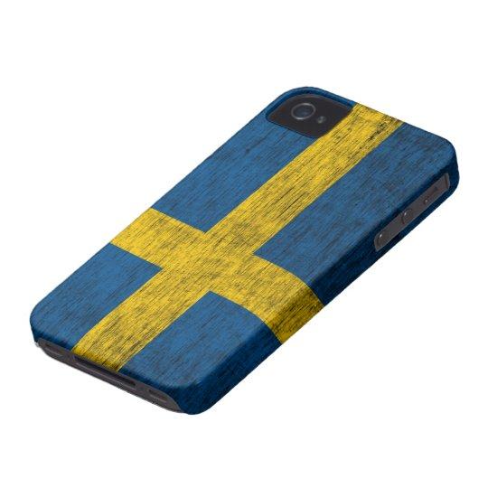 Retro Swedish Flag (Dark) iPhone 4/4S Case