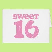 Retro Sweet 16 Card