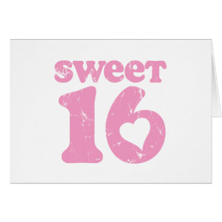 Retro Sweet 16 Card