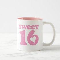 Retro Sweet 16 Two-Tone Coffee Mug