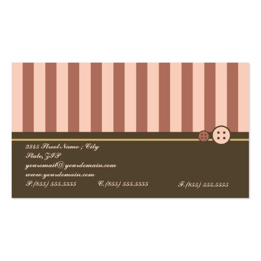 Retro Sweet Cupcake Bakery Business Card (back side)