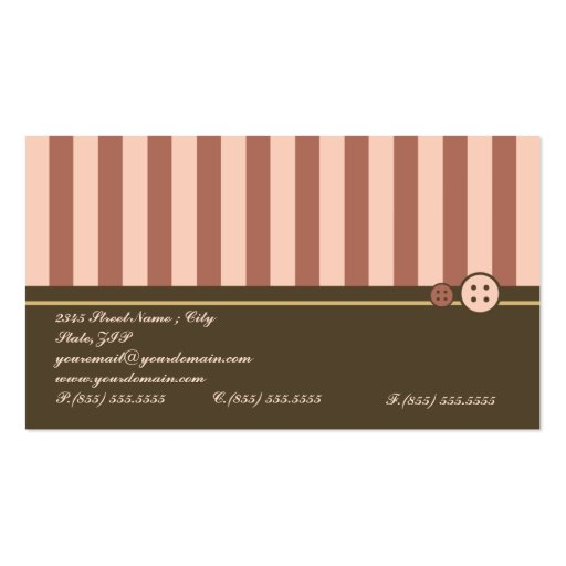 Retro Sweet Cupcake Treat Bakery Business Card (back side)
