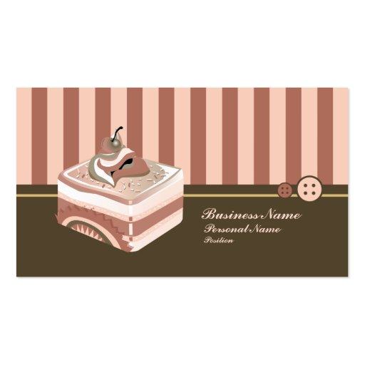 Retro Sweet Cupcake Treat Bakery Business Card (front side)
