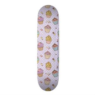 Retro Sweets Pattern Skateboard
