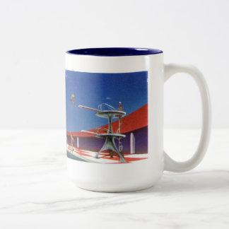 Retro Swimming Illustration Mug