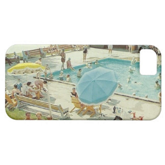 Retro Swimming Pool Vintage Photo Phone Case iPhone 5 Cover