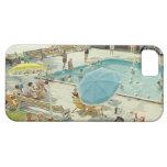 Retro Swimming Pool Vintage Photo Phone Case iPhone 5 Cover
