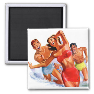Retro Swimsuit Advertisement Magnet