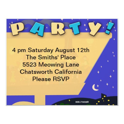 Retro Swinging Sixties Jet Set Party 4.25x5.5 Paper Invitation Card