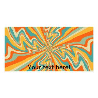 Retro swirl abstract design card