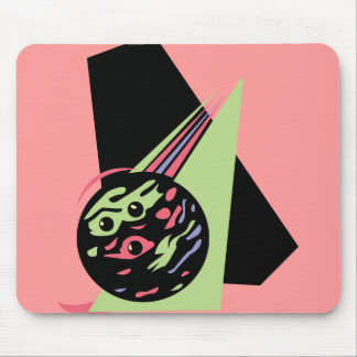 retro swirl bowling ball mouse pad