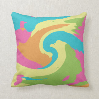 Retro Swirl Throw Pillows