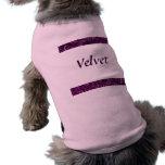 Retro Swirls Amethyst Purple Customize Pet T-Shirt