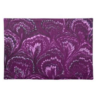 Retro Swirls Amethyst Purple Placemats
