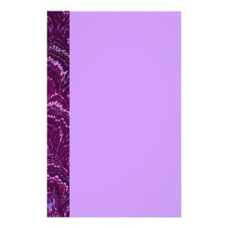 Retro Swirls Amethyst Purple Stationery