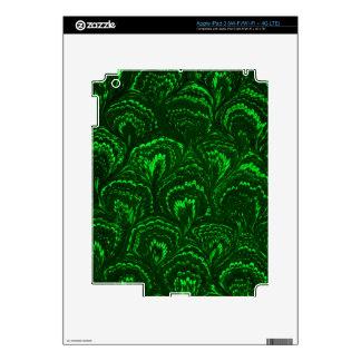 Retro Swirls Emerald Green iPad 3 Skin