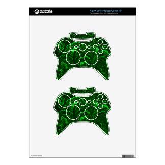Retro Swirls Emerald Green XBOX 360 Wireless Skin Xbox 360 Controller Decal