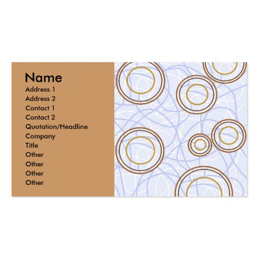 RETRO SWIRLY BUSINESS CARDS